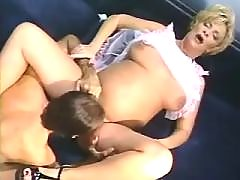 Smooth pregnant chick in sex party