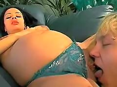 Guy crazy fucks cute pregnant babe